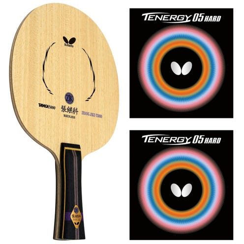 Butterfly Zhang Jike T5000 + Tenergy 05 Hard